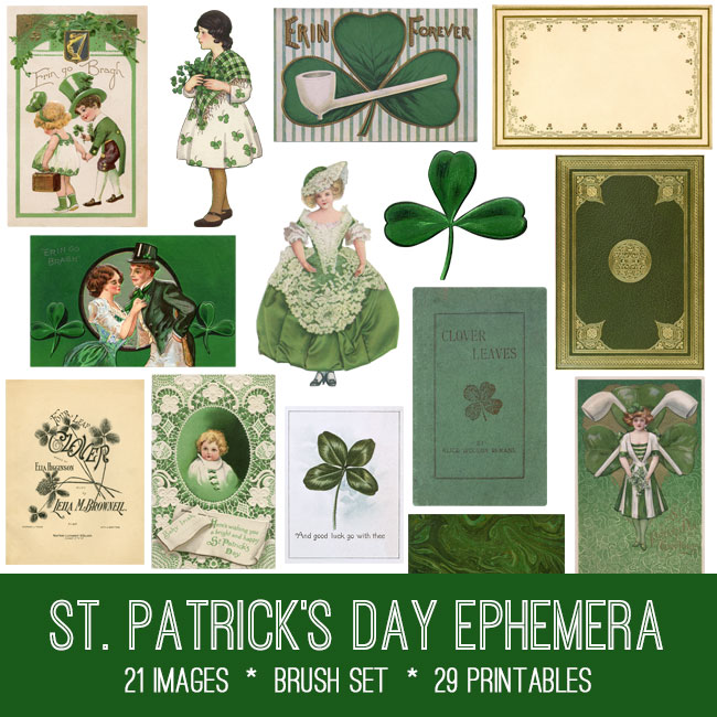 St Patrick's Day Ephemera Kit