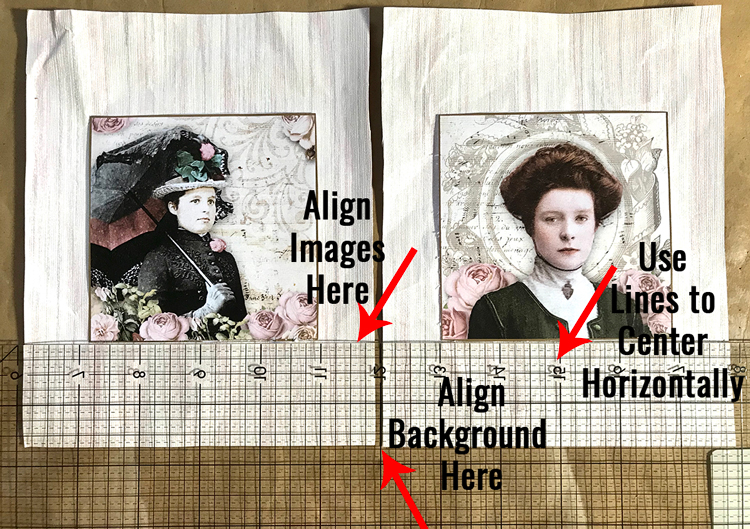 Align Images with Quilting Ruler