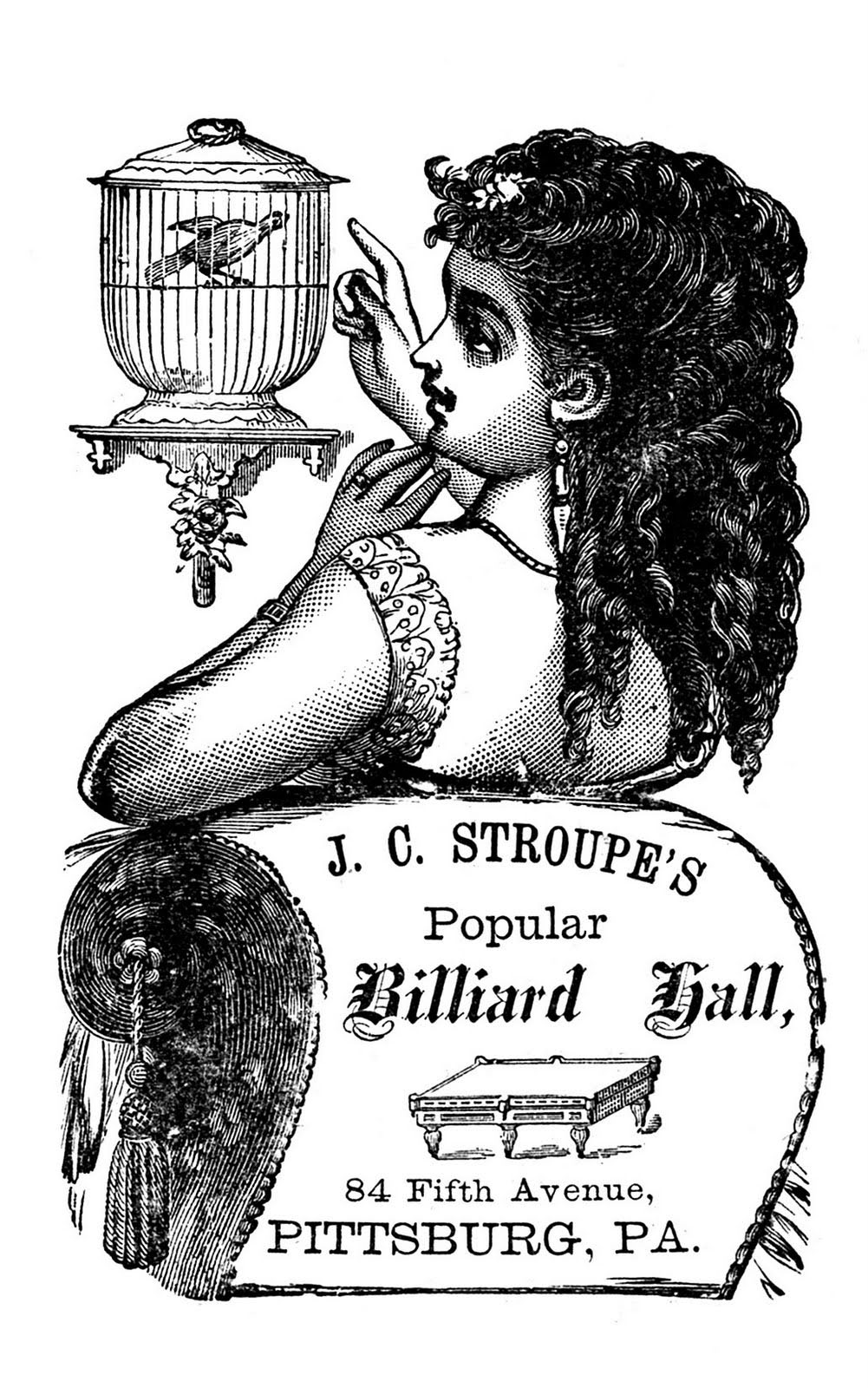Birdcage-Lady-Vintage-Label-Billiard-GraphicsFairy