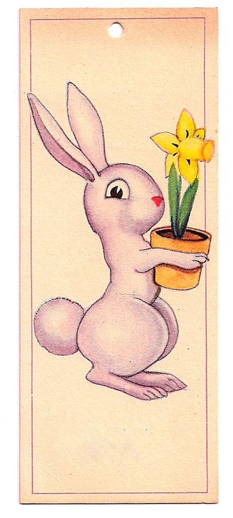 Bunny Daffodil Card