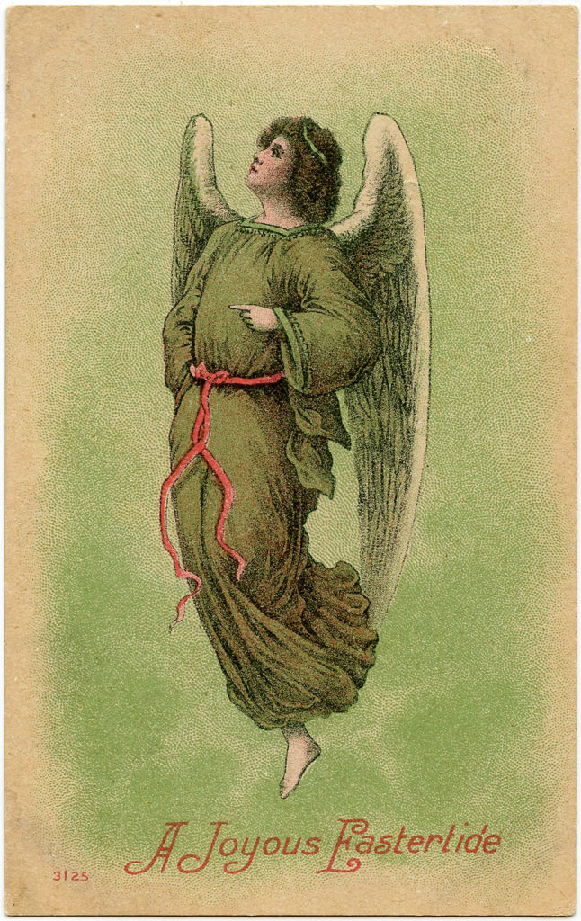 Easter Angel Green