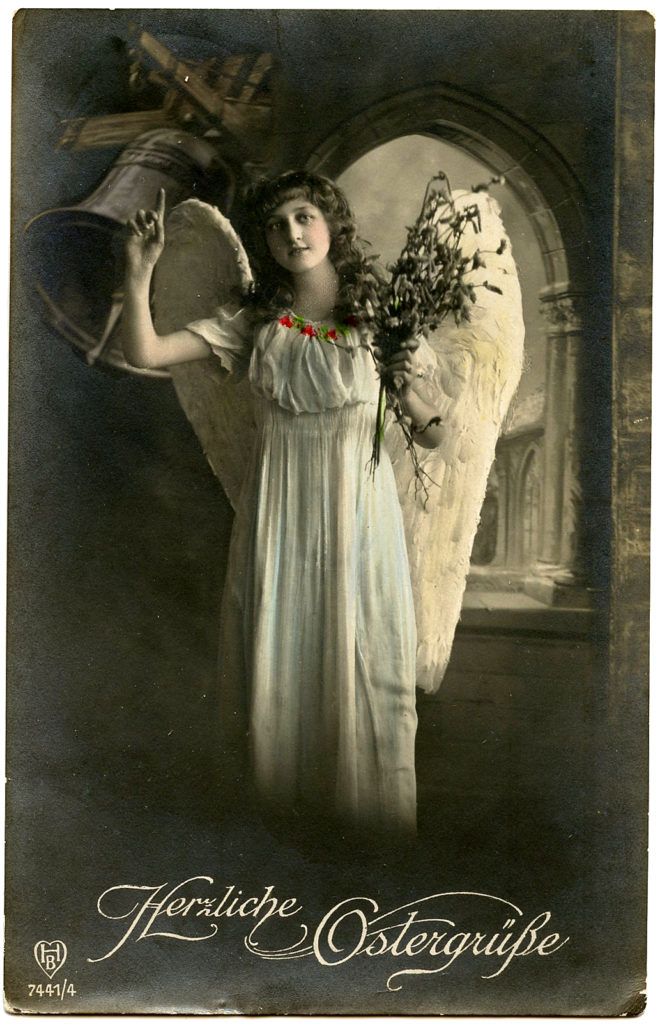 Easter Angel Photo Postcard