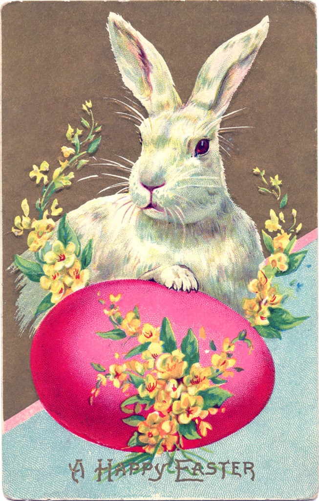 Easter Bunny Pink Egg Image