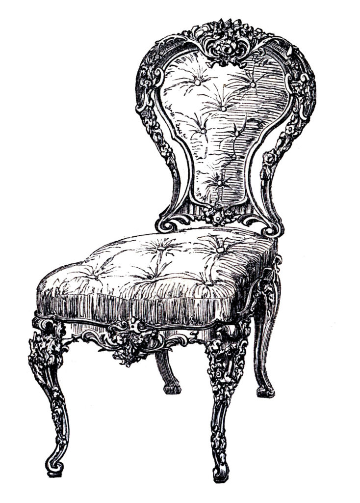 French Chair Tufted Seat and Back