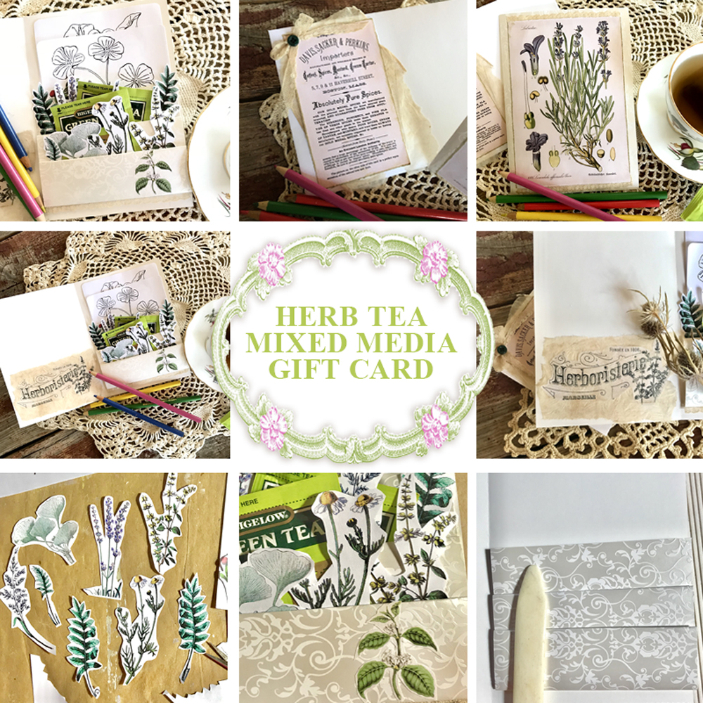 Herb Tea Mixed Media Gift Card Composite