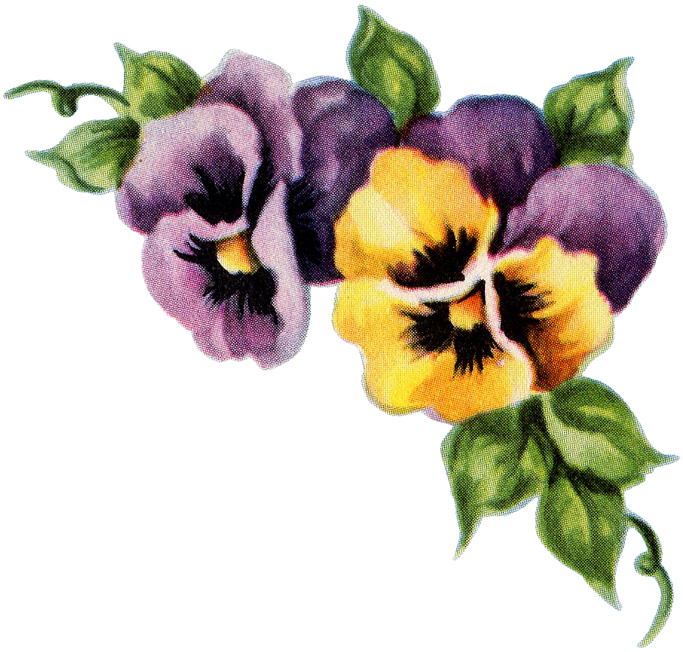 Pansy Corner Ornament