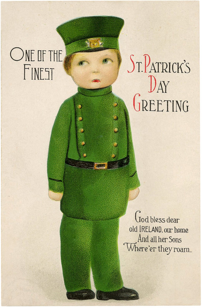 St Patrick's Day Soldier Boy Image