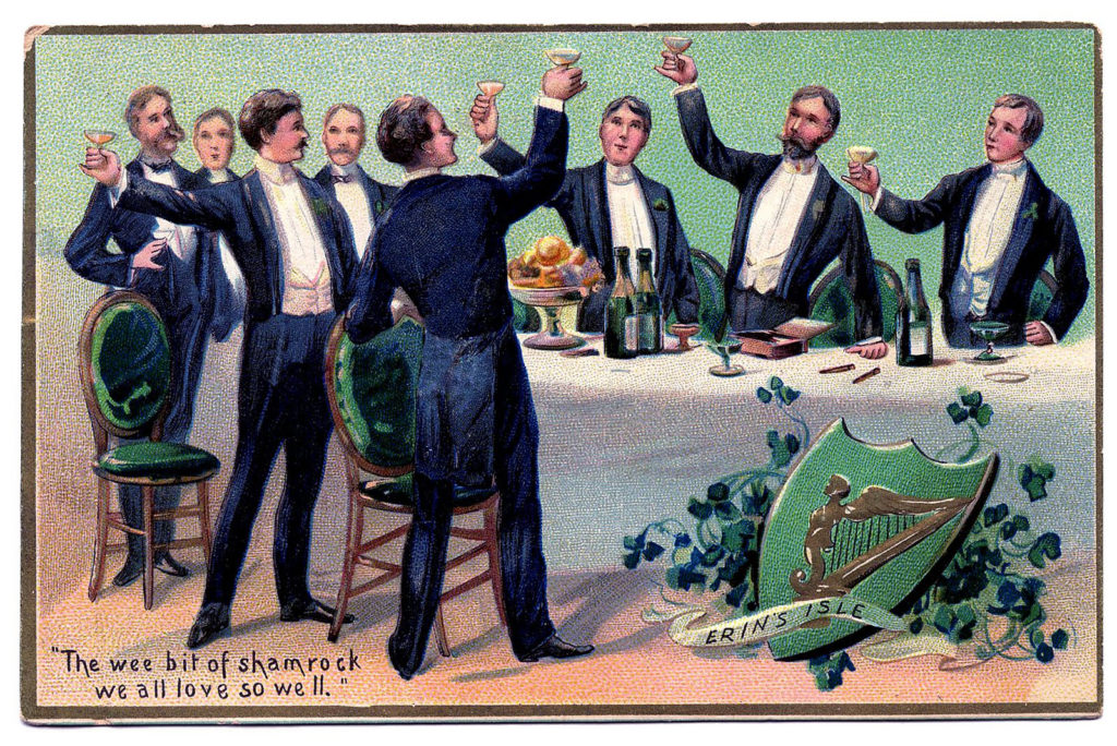 Toasting St Patrick's Day Men