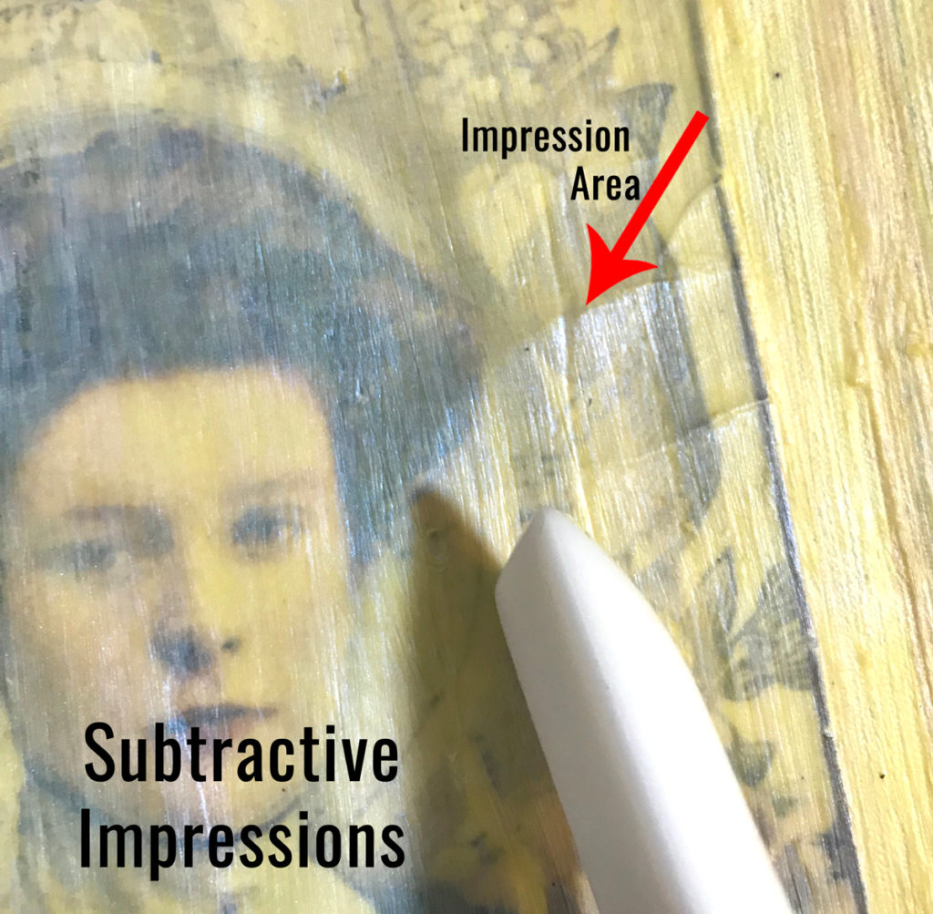 Subtractive Impressions in Faux Wax