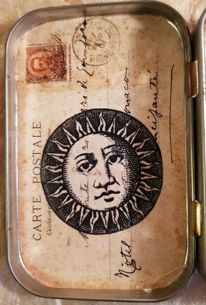 Tin Number 1 Card and Celestial Image