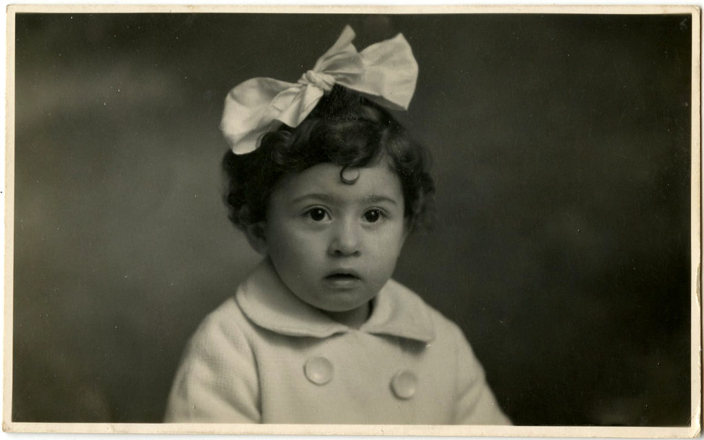 Vintage Photography Girl with Bow