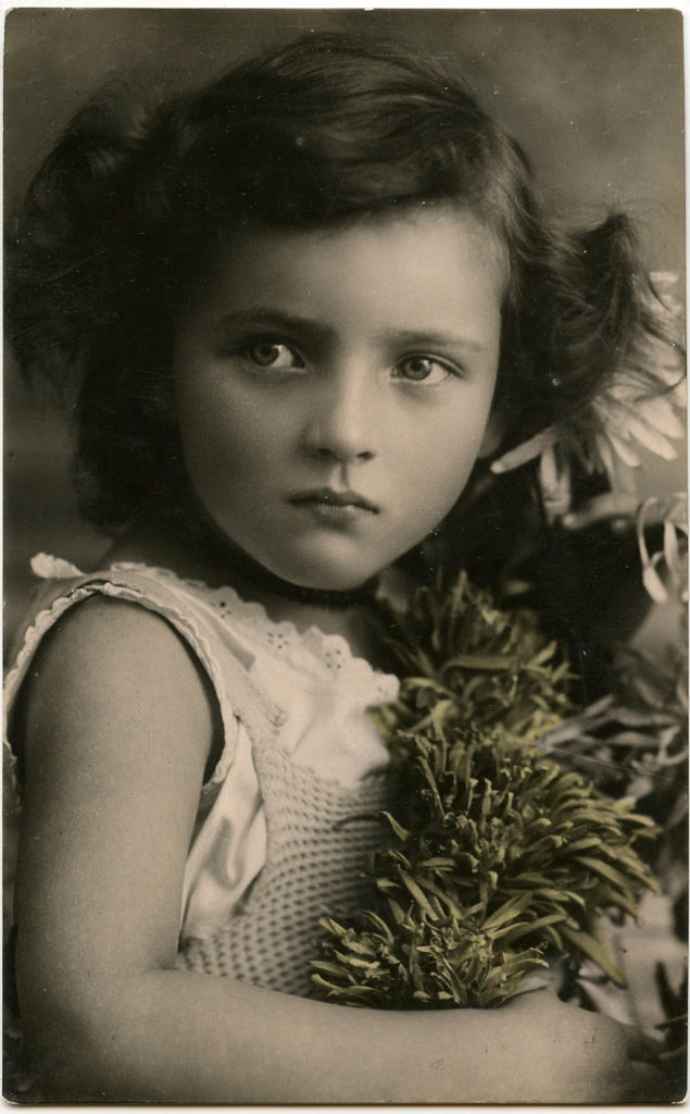 Vintage Little Girl Photo Pretty Eyes