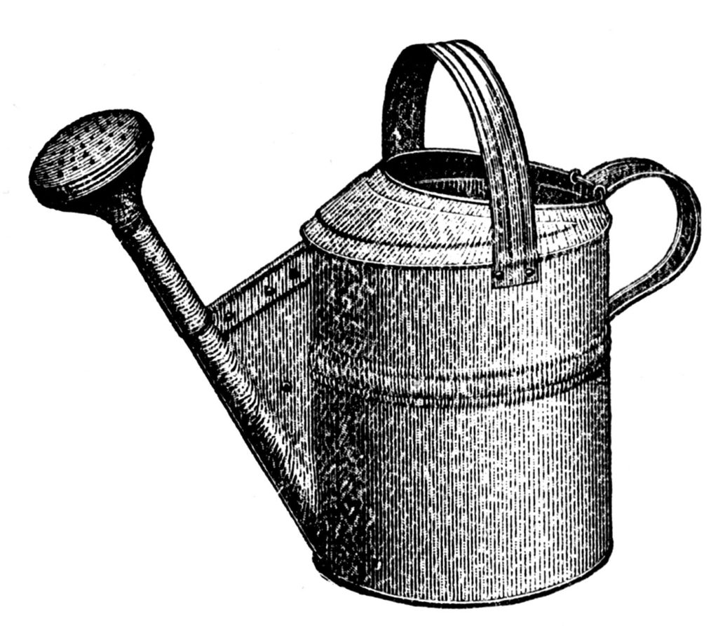 Watering Can Black Clip Art