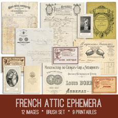 image about Free Printable Ephemera known as Ephemera Archives - The Graphics Fairy