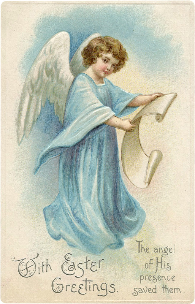 Blue Easter Angel Image