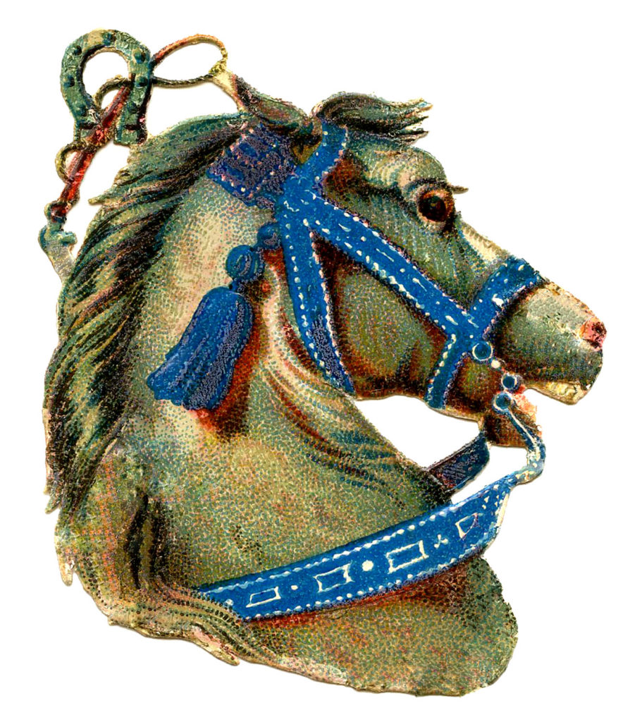 Colorful Carousel Horse Head