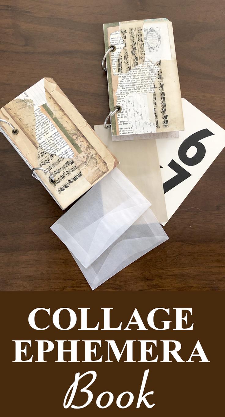 Collage Ephemera Book Pin