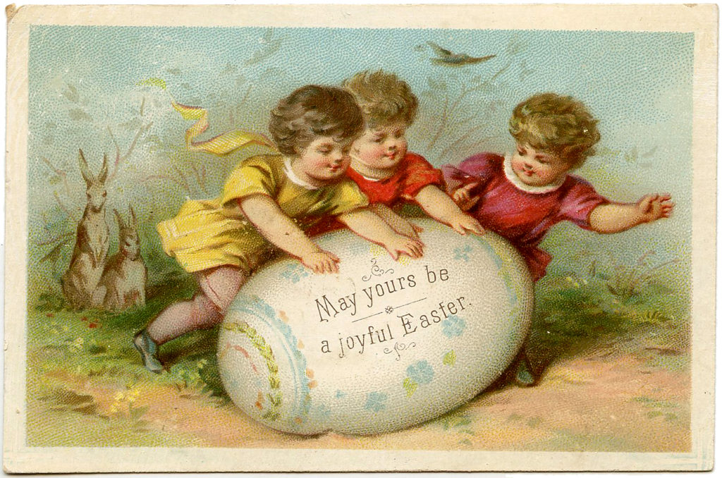 Easter Children with Egg