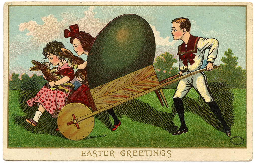 Easter Children Postcard Download