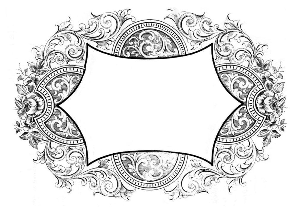 Floral Scroll Frame