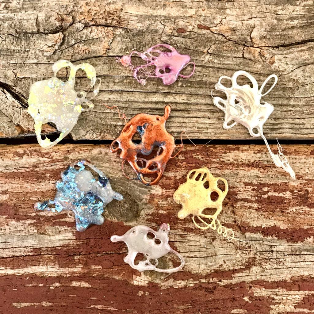 Painted Glue Embellishment Blobs