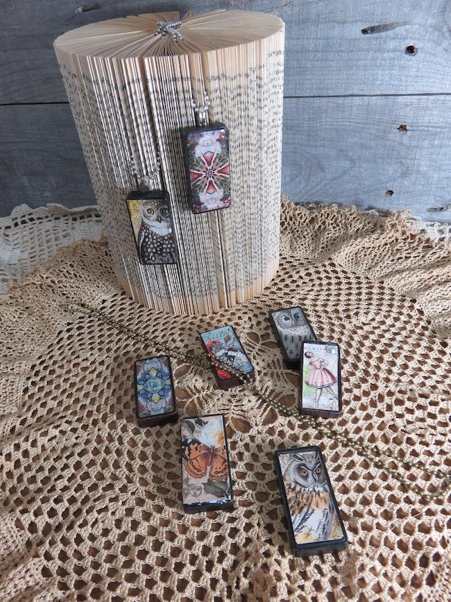 Vintage Mixed Media Domino Charms
