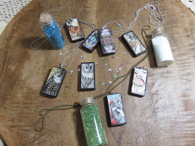 Vintage Domino Pendant Charms