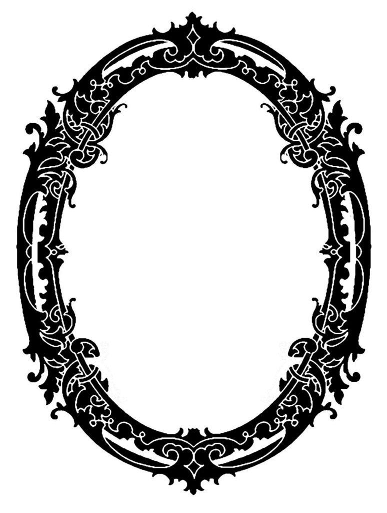 Oval Frame Swirly VIntage Image