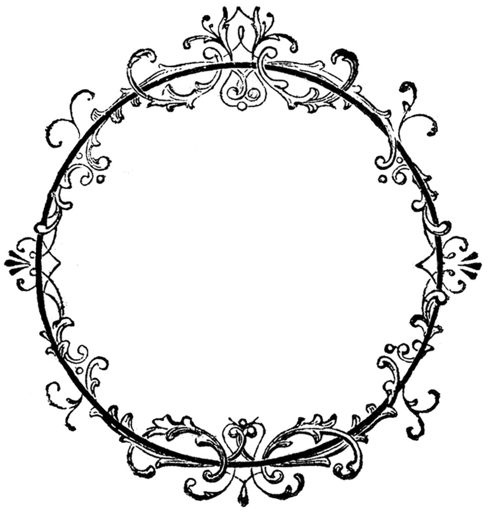 Round Fancy Scroll Frame