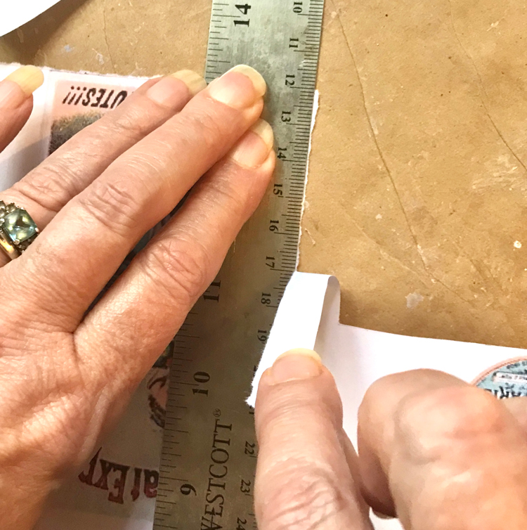 Ruler Torn Edge Paper Technique