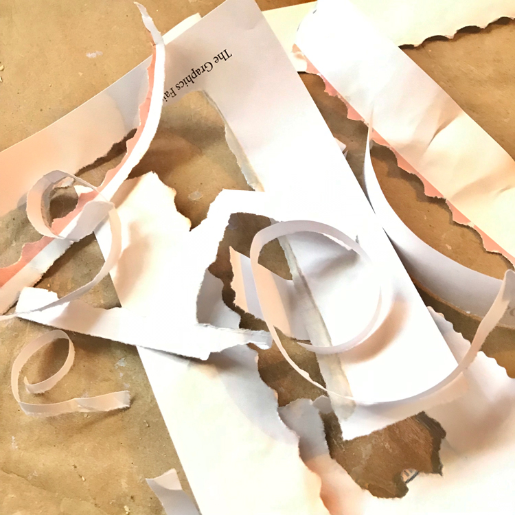 Paper Tearing Scraps