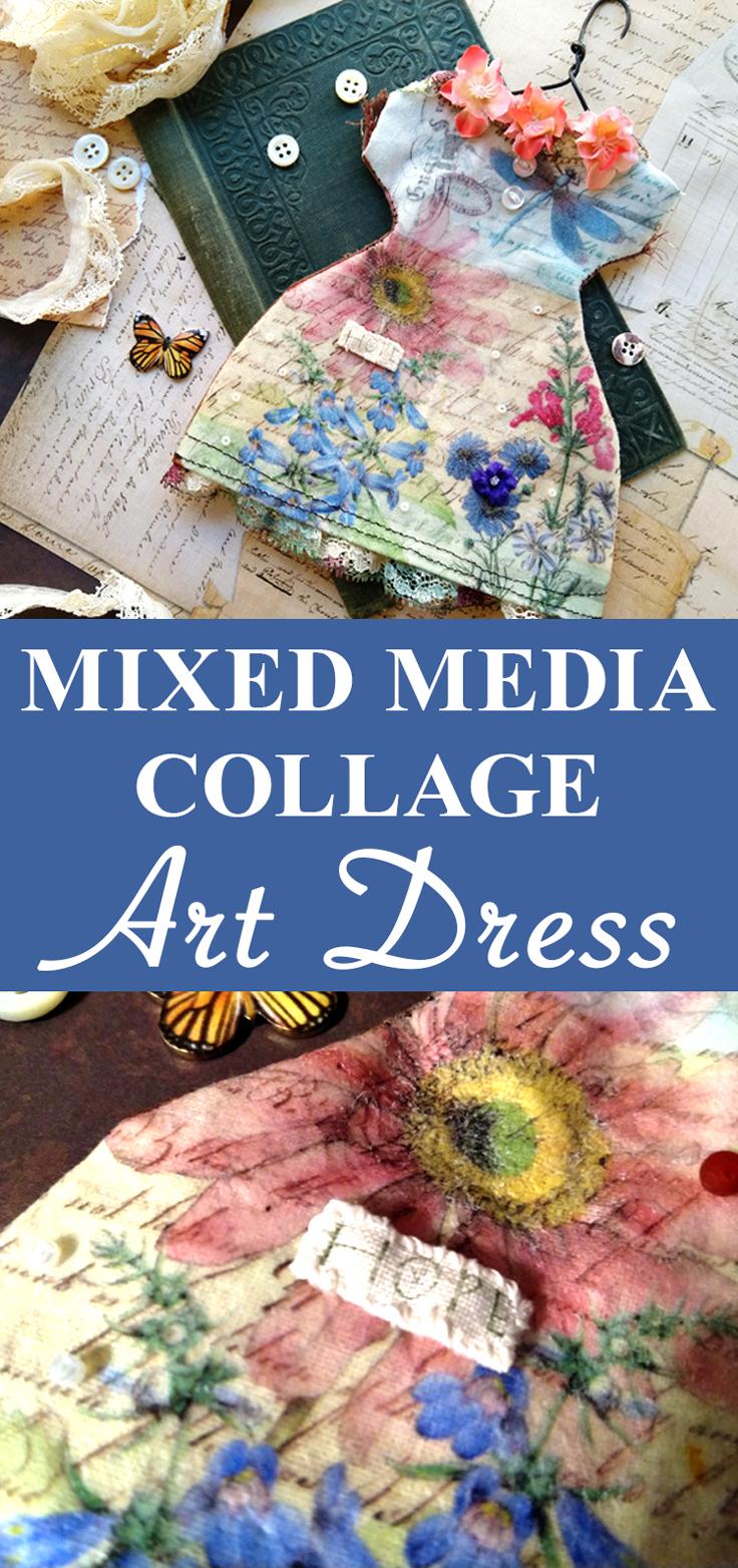 Mixed Media Art Dress Collage