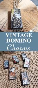 Vintage Domino Charms Mixed Media