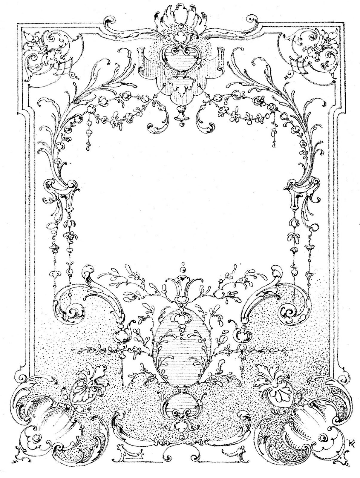 Vintage-Illustration-Fancy-Frame-Image-GraphicsFairy3