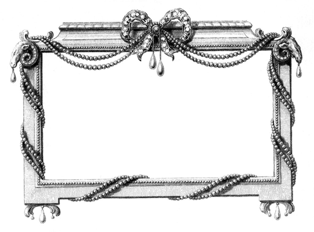 Jeweled Frame Image B&W