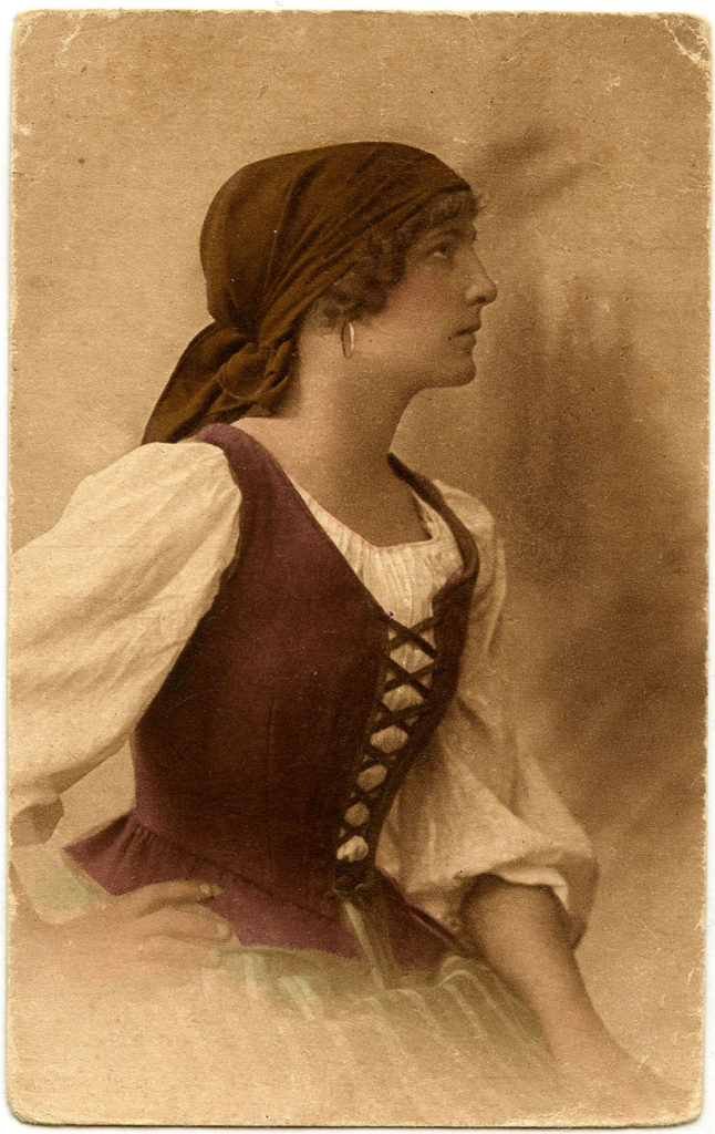 Bohemian Lady with Scarf