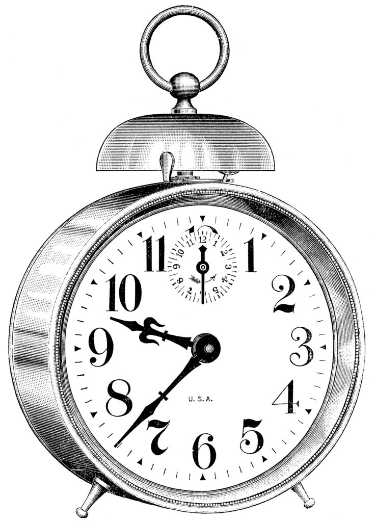 Classic Vintage Alarm Clock Clipart