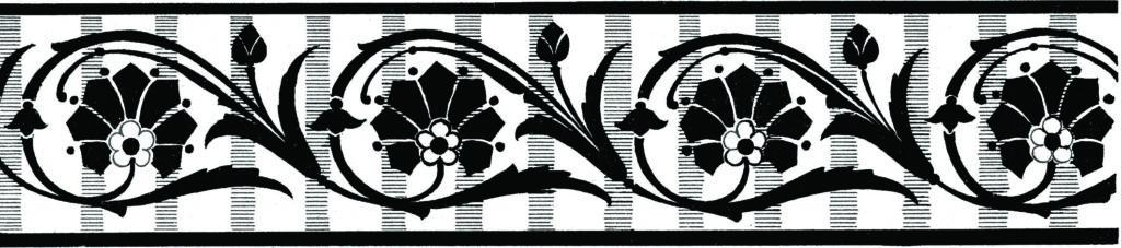 Floral Border Clipart Scrolls
