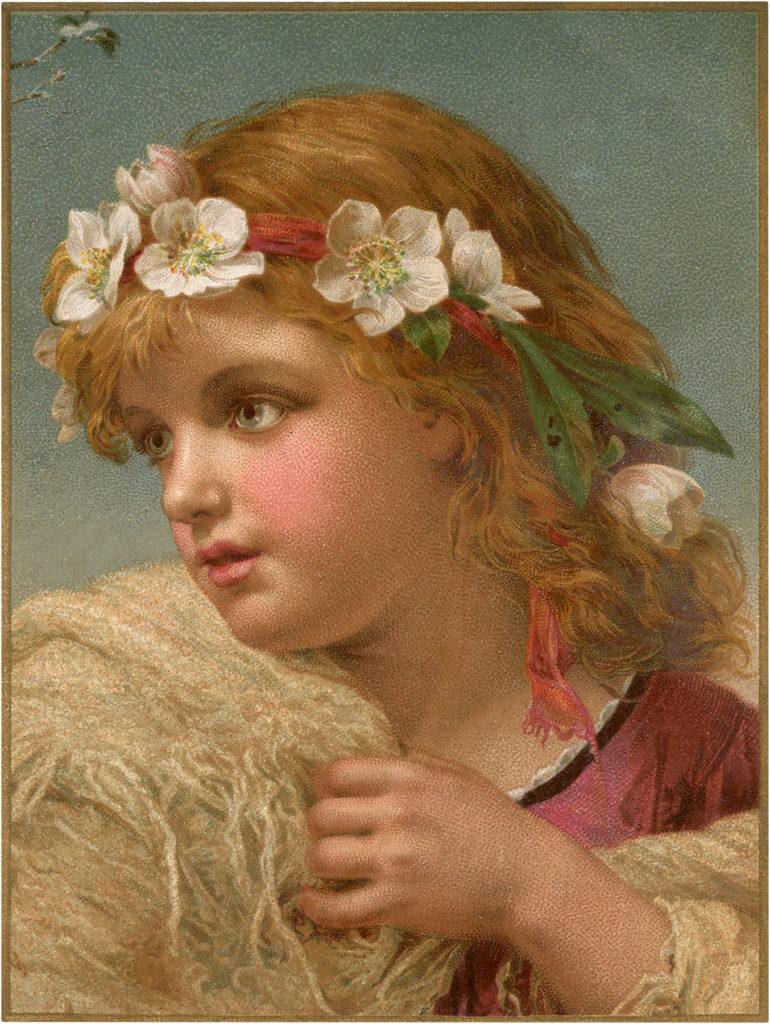 Flower Crown Girl Image
