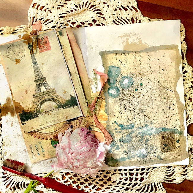 Foxed Paper Junk Journal Pages