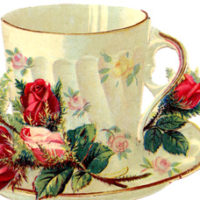 Teacup with roses image