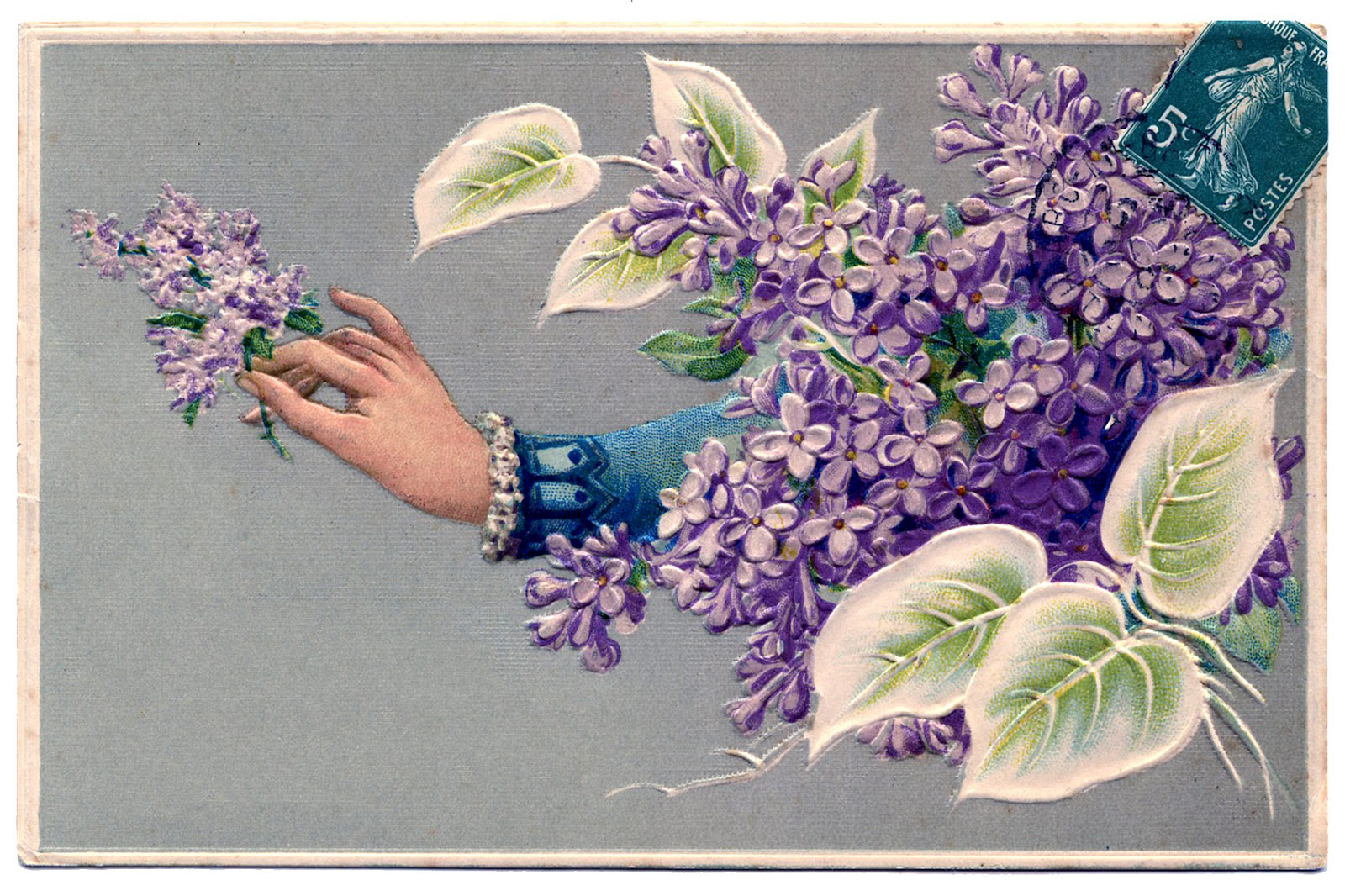 Lilacs-Hand-Card-Vintage-Image-GraphicsFairy