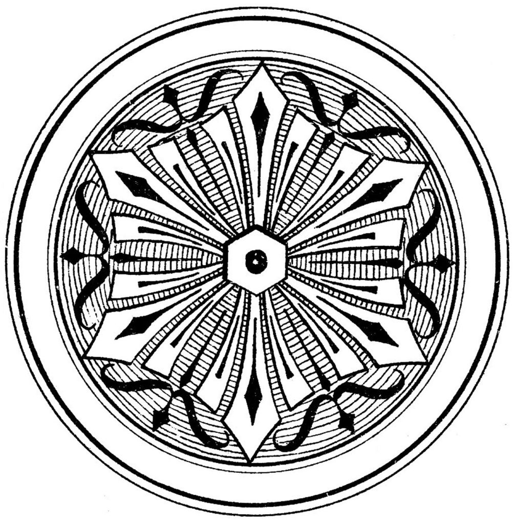 Ornamental Medallion Clip ARt