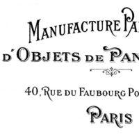 Paris address sign thumb
