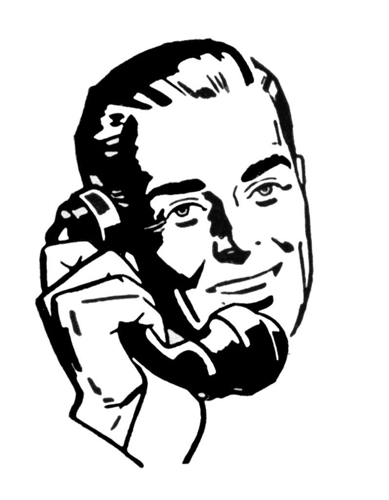 Phone Man Retro Image