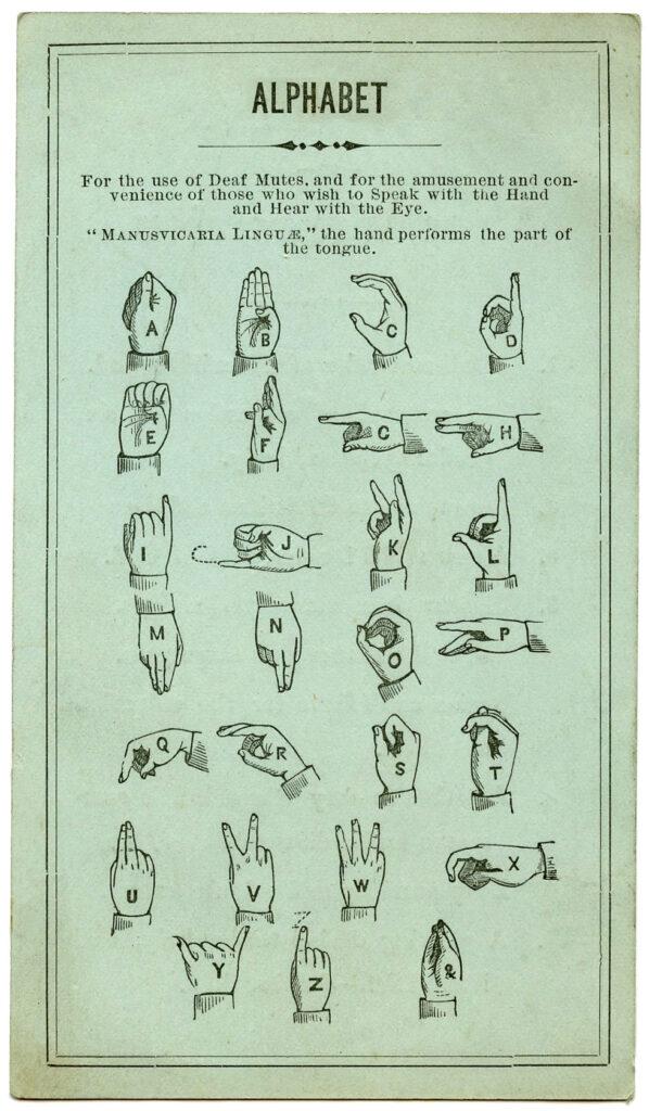 Sign Language Ephemera Card