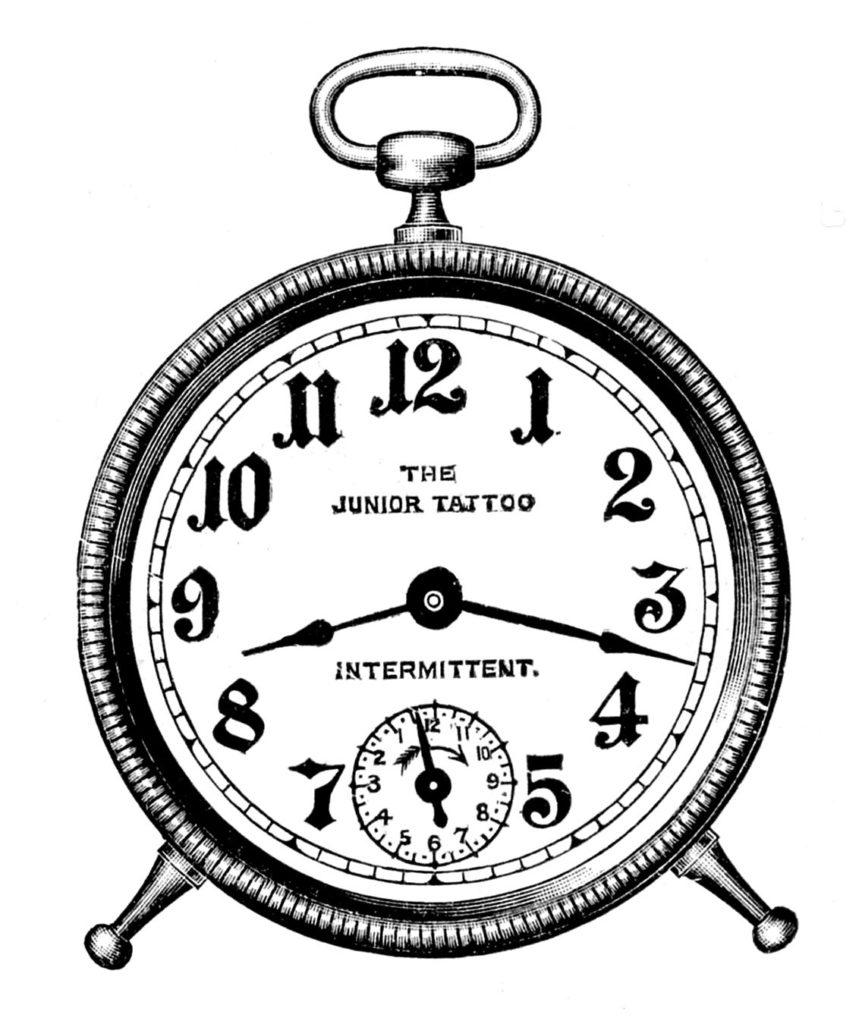 Small Vintage Alarm Clock Image