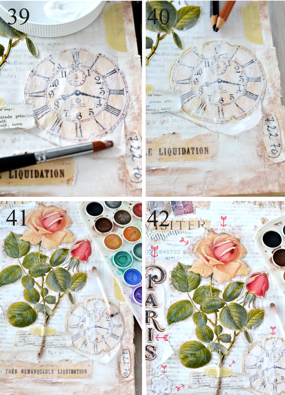 DIY Vintage French Altered Book Journal