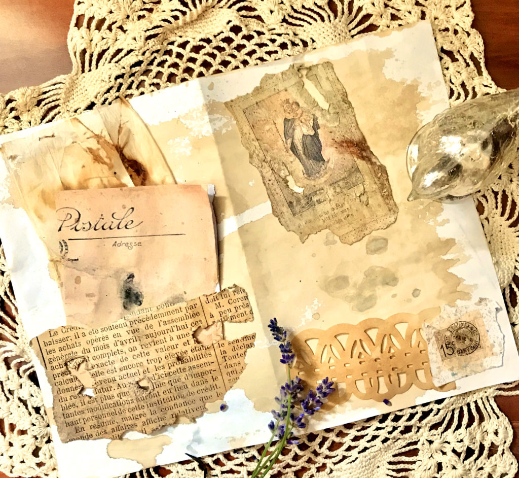 Mildew Paper on Junk Journal Pages