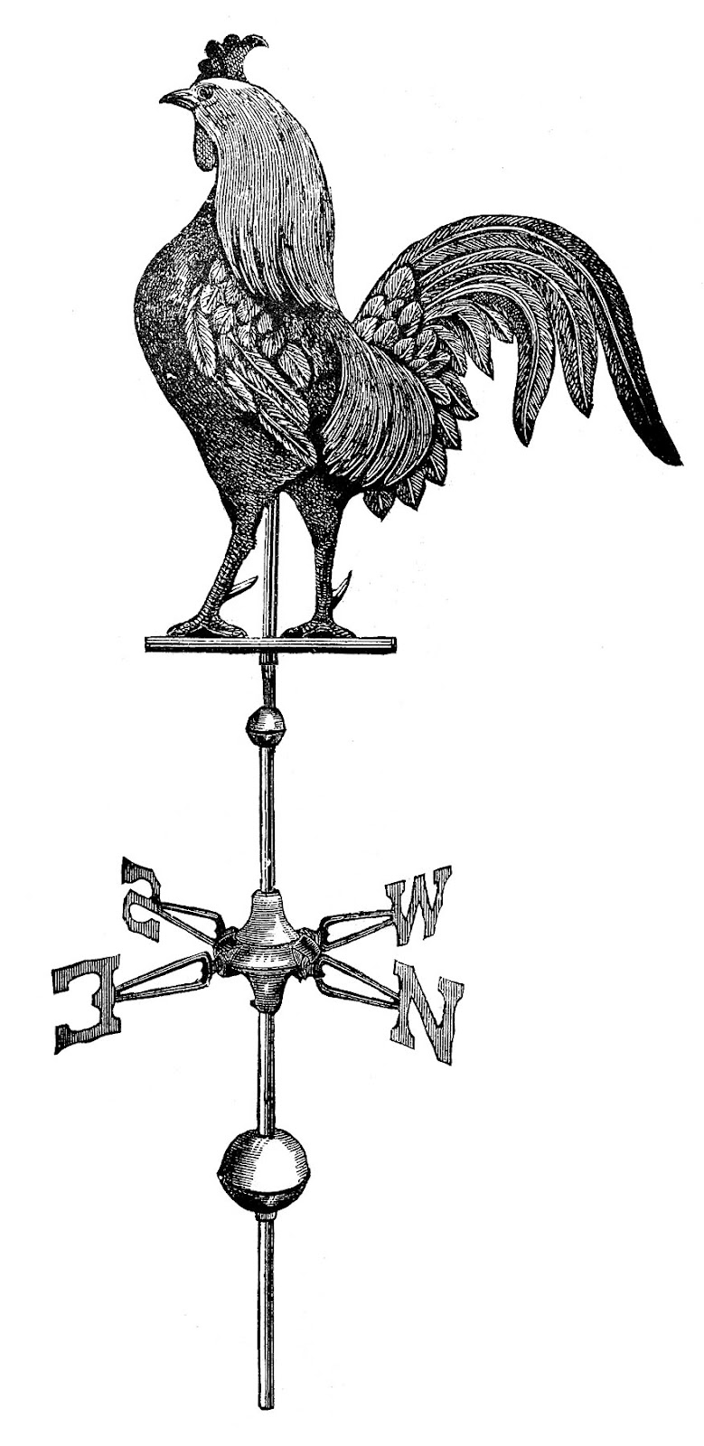 rooster-weathervane-vint-GraphicsFairy2